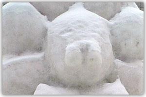 10丁目市民雪像「ポンdeレディオ」