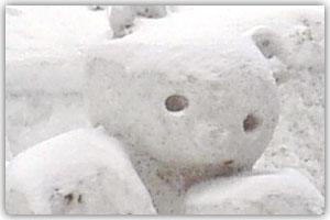 10丁目市民雪像