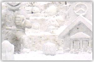10丁目雪像「夢の球宴 北海道キャラクターシリーズ開幕」