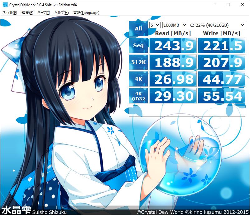 CrystalDiskMark 3 Shizuku Edition