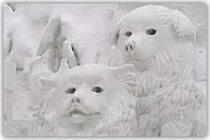 10丁目雪像「神秘大陸 南極の生き物たち」