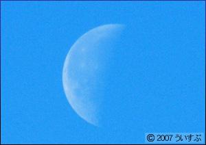 2008年01月01日の朝に撮影した月