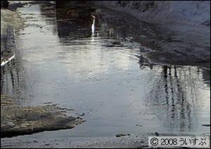 交差点が水浸し
