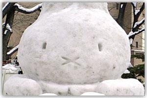 9丁目市民雪像「うさぴょん」