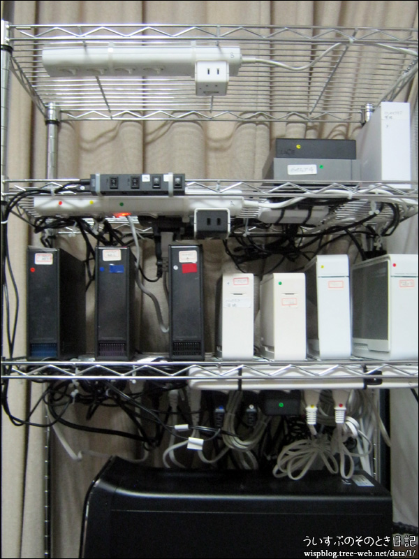 PCの電源、USB、LANなどの配線をやり直しました!