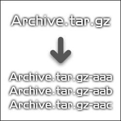 さくらインターネットで大きいファイルを split を使って分割する方法