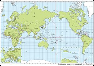 世界地図の「白地図」