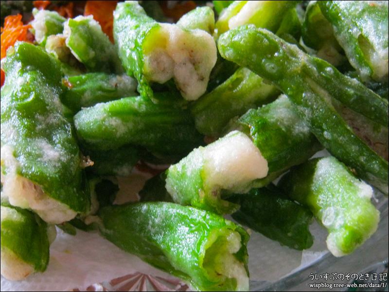 自家栽培の野菜天ぷら