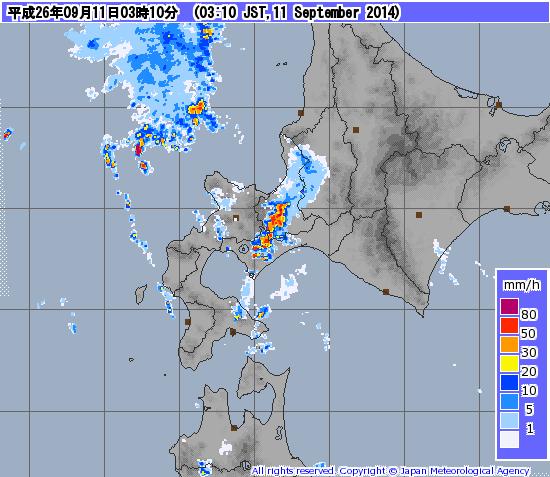 こりゃ酷い。札幌南区あたりは、真っ赤だわ。