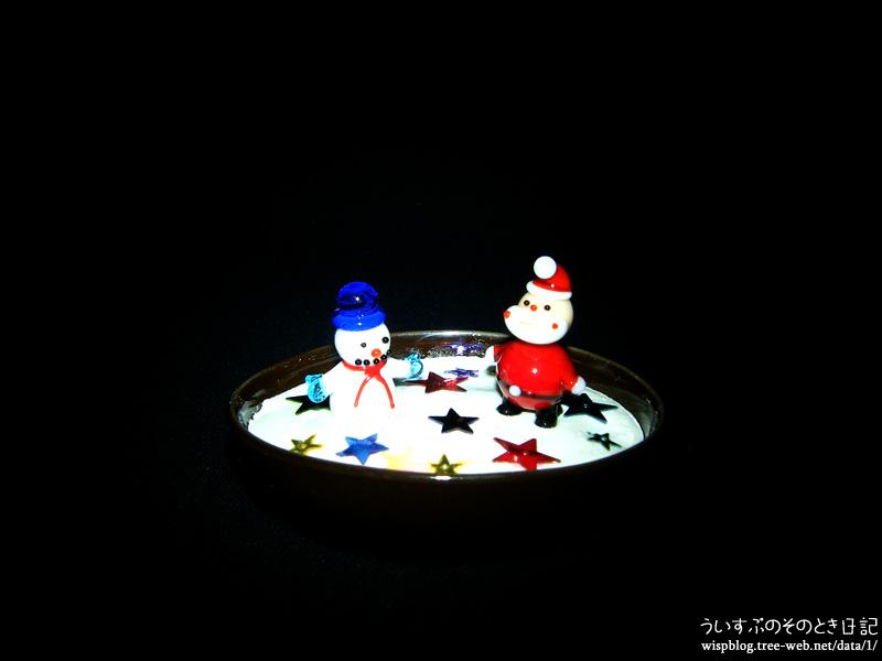 100円グッズでクリスマス的飾りを作ってみました。