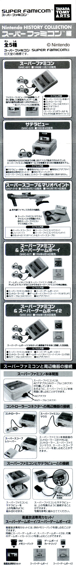 Nintendo HISTORY COLLECTION スーパーファミコン編 [タカラトミーアーツ]