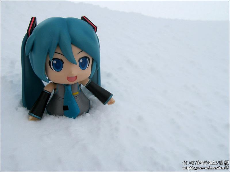 パラパラ、コロコロ雪