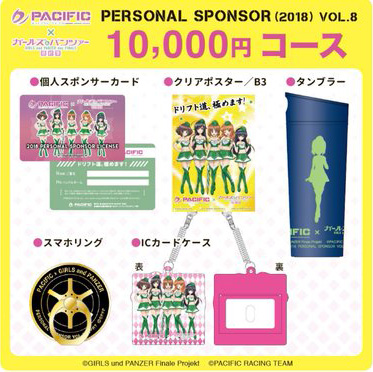 「パシフィック×ガールズ&パンツァー」第8期個人スポンサー 10,000円コース