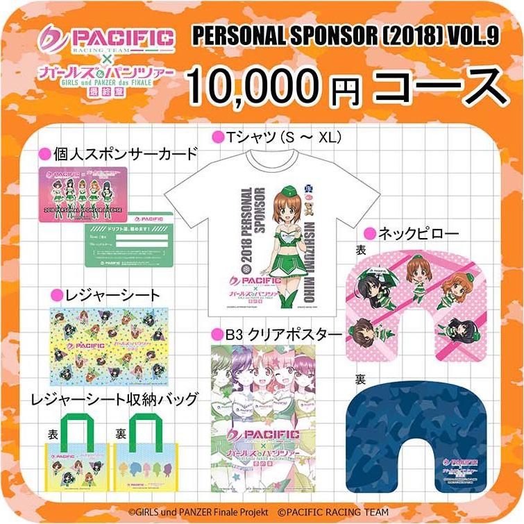 「PACIFIC×ガールズ&パンツァー第9期個人スポンサーコース」10,000円コース