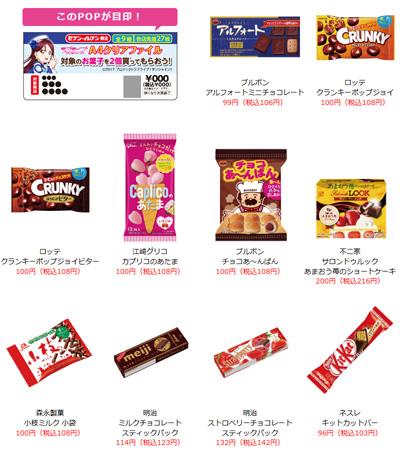 セブン‐イレブン『ラブライブ!サンシャイン!! キャンペーン』 対象のお菓子
