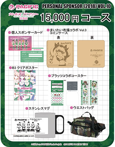 PACIFIC×ガールズ&パンツァー第10期個人スポンサー 15,000円コース