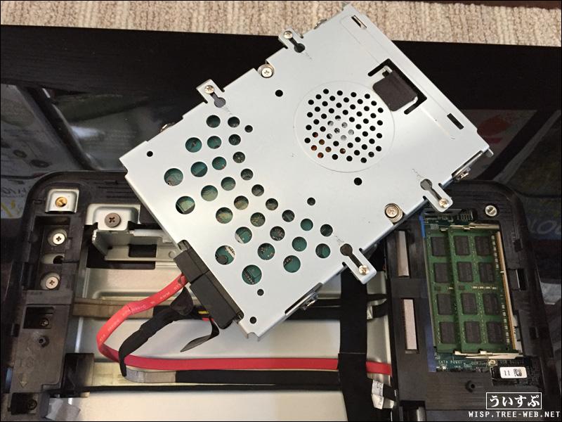 SONY製 一体型PC VAIO VPCL24AJ SSD 換装・交換