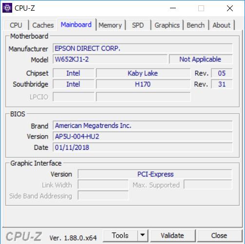 EPSON Endeavor NJ6100E [CPU-Z Mainboard]