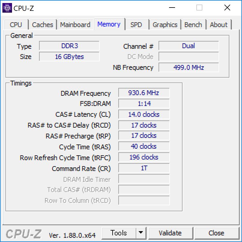 Surface Pro 6 [ KJW-00017 ] CPU-Z [Memory]