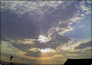 2007/07/25 自宅から見た夕焼け空
