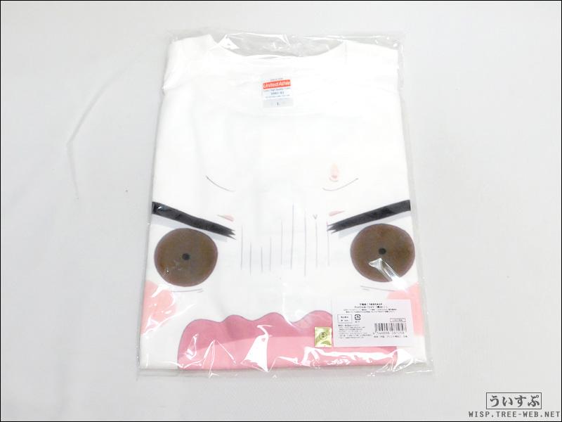 干物妹!うまるちゃんR フェイシャル・Tシャツ (底ver.) L