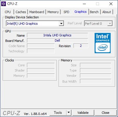 DELL Inspiron 24 5000 フレームレス デスクトップ [CPU-Z / Graphics]