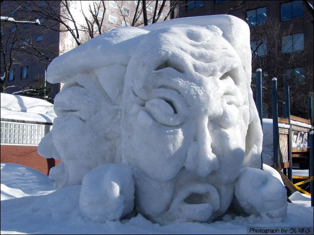 「中畑のおじさんと 清吉おじさん」北の国から雪像制作委員会