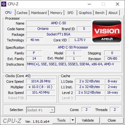 Lenovo IdeaPad S206 [CPU-Z / CPU]