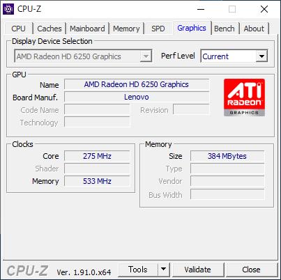Lenovo IdeaPad S206 [CPU-Z / Graphics]