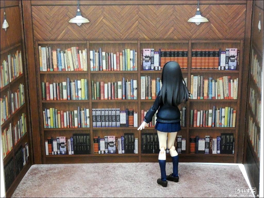 02ウッドクラフト背景ボード商店街 書店