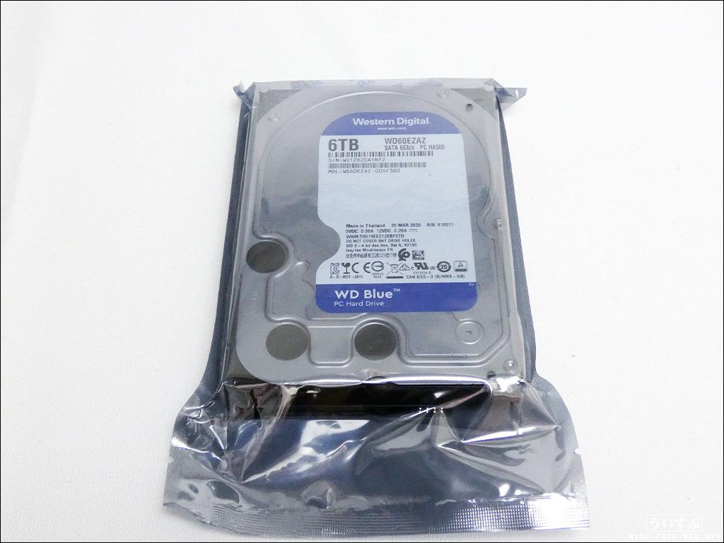 Western Digital 6TB 内蔵HDD WD60EZAZ-RT