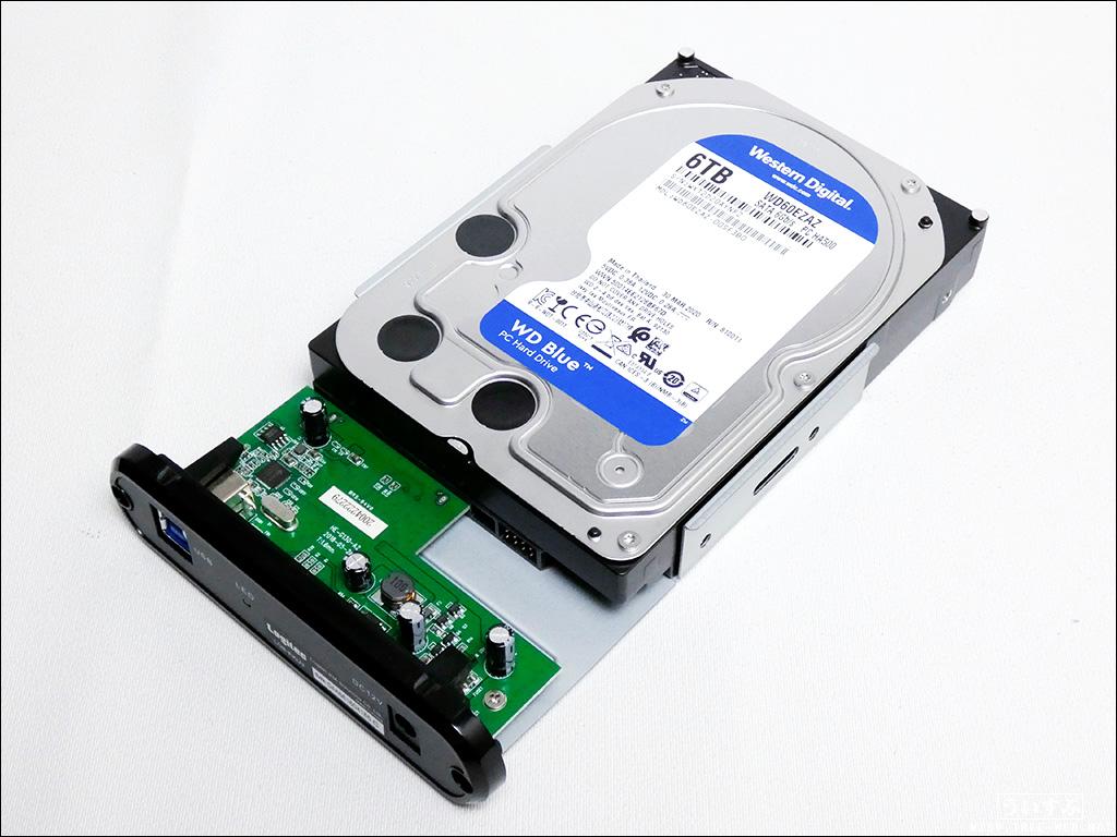 ロジテック 外付けHDDケースへ内蔵HDD取り付け