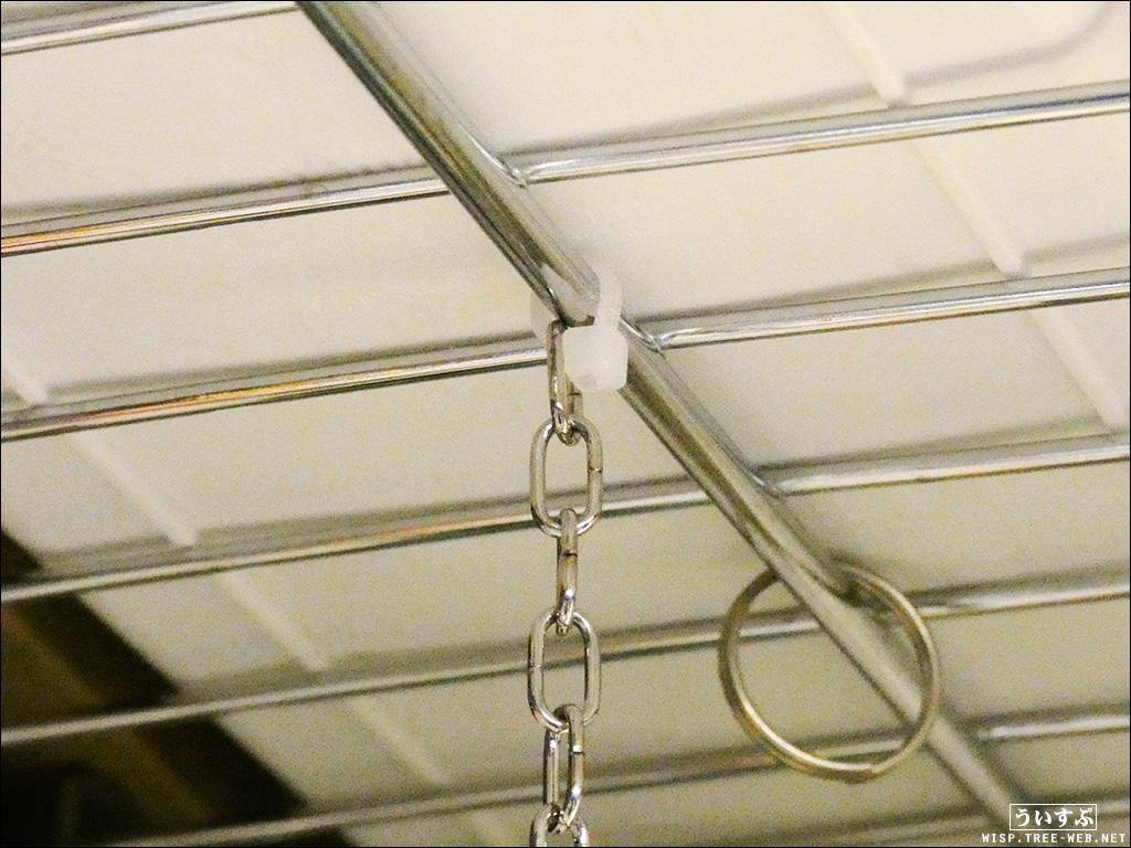吊り下げ元(ケーブル結束で固定)