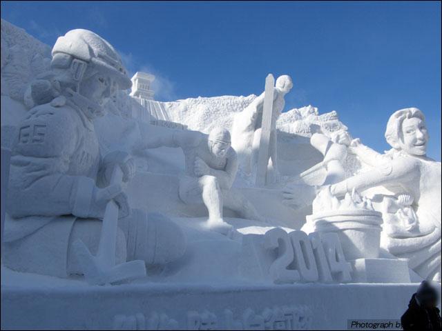 大雪像「ウインタースポーツ天国、北海道」