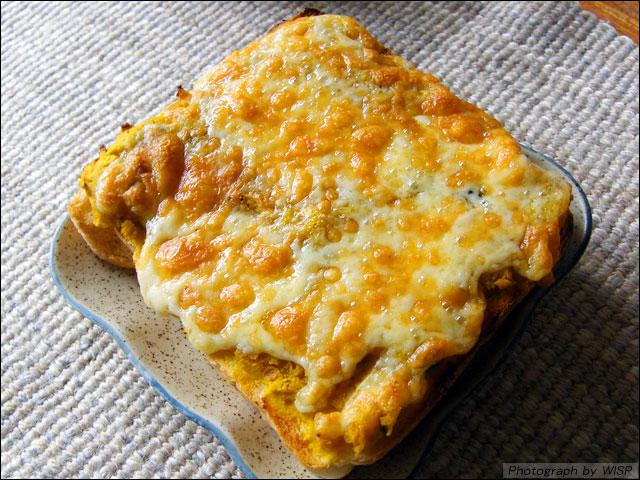 カボチャのピザトースト