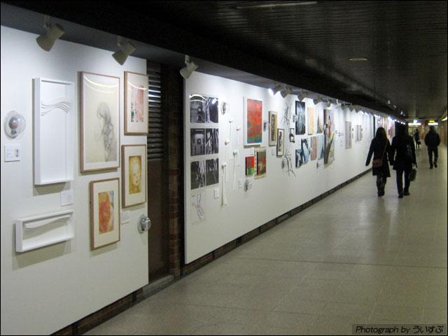 「札幌大通地下ギャラリー500m美術館」を見てきた。