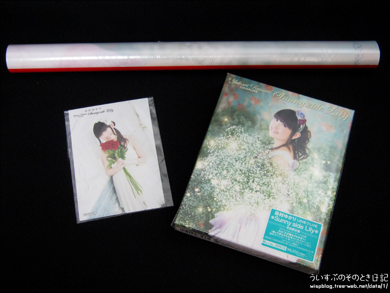 ゆかりんのライブBD 『LOVE ♡ LIVE *sunny Side Lily*』 が届きました!