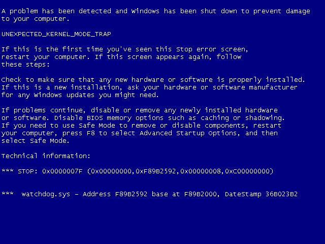 いつでもドキッ ブルースクリーンが体験できる「Bluescreen Screen Saver」