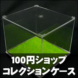 100円のコレクションケースに草生やしてみた。