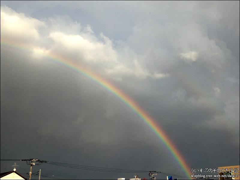 虹が綺麗でした。