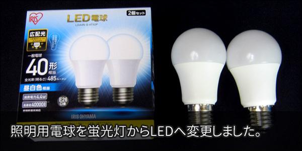 撮影用照明をLED電球に交換しました。