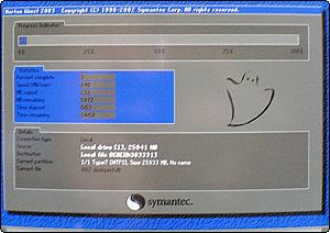 ghostによるディスクイメージ