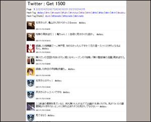 Twitter : Get 1500